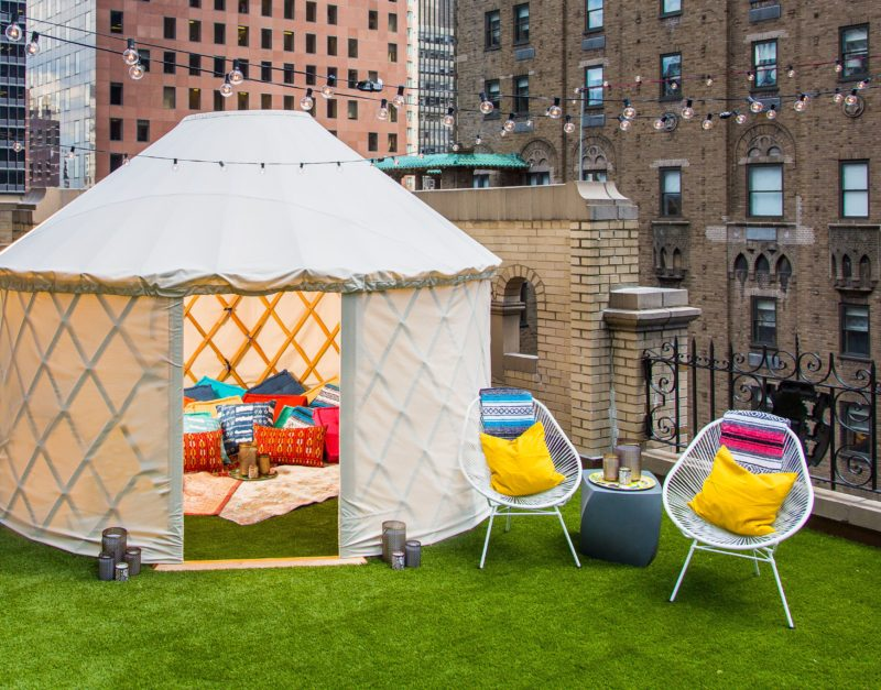 W Hotel glamping site